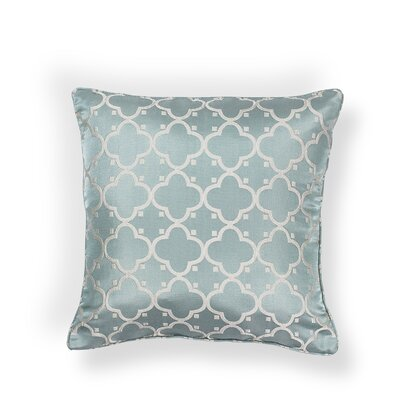 Kendale Lakes Filigree Indoor/Outdoor Throw Pillow Size: 18 H x 18 W x 0.5 D, Color: Light Blue