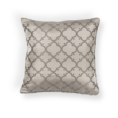 Kendale Lakes Filigree Indoor/Outdoor Throw Pillow Size: 20 H x 20 W x 0.5 D, Color: Taupe