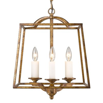 Senter 3-Light Metal Foyer Pendant