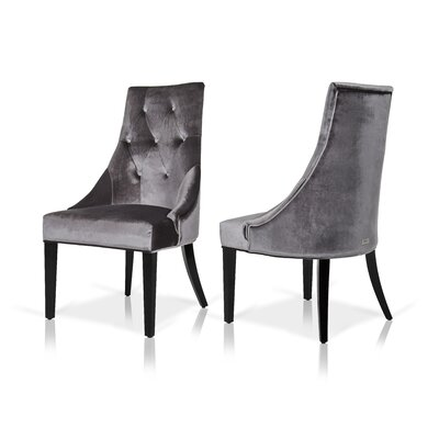 Estelle Side Chair Upholstery: Gray