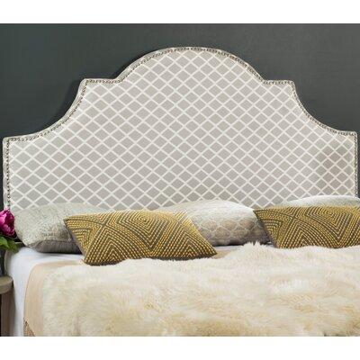 Harrogate Upholstered Panel Headboard Size: Full, Upholstery: Gray/White