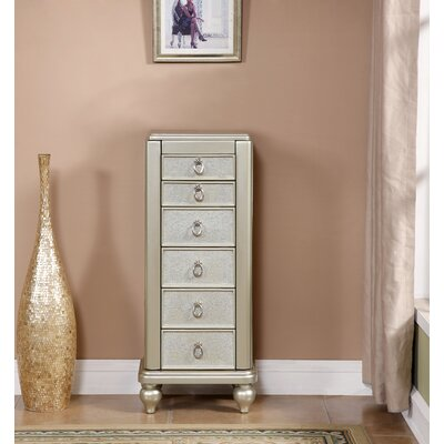 King Jewelry Armoire with Mirror