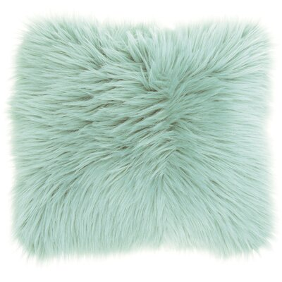 Yaritza Faux Fur Throw Pillow Color: Seafoam