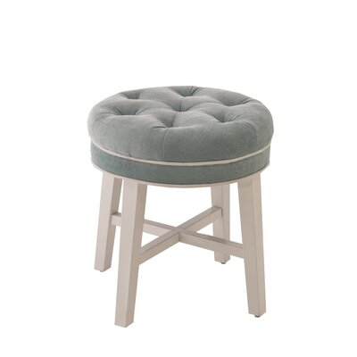 Chavanne Vanity Stool Color: Aqua Blue