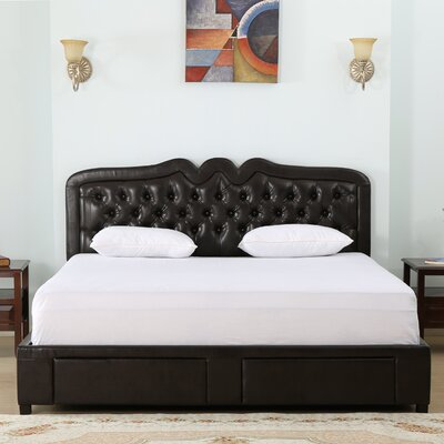 Petegem Upholstered Storage Panel Bed Size: Queen
