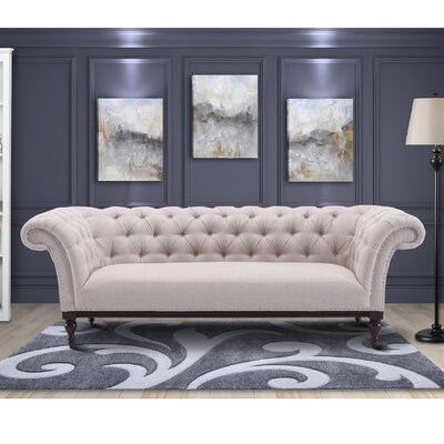 Bonilla Chesterfield Wood Sofa