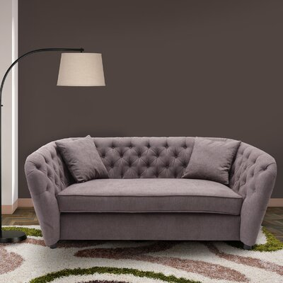 Canterbury Transitional Loveseat Upholstery: Brown