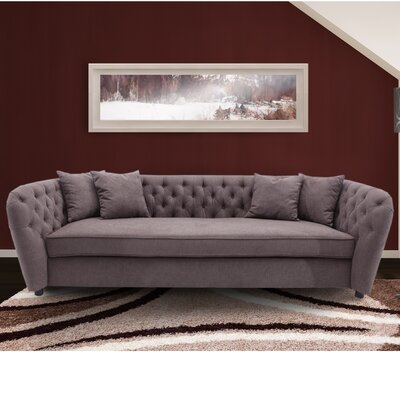 Canterbury Transitional Sofa Upholstery: Brown