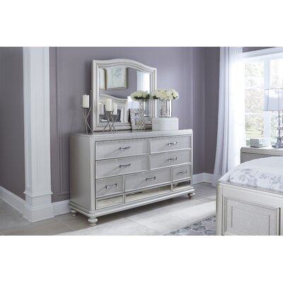 Guillaume 7 Drawer Dresser with Mirror