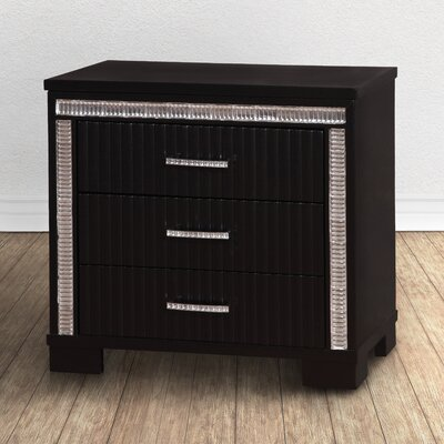 Viridian 3 Drawer Nightstand