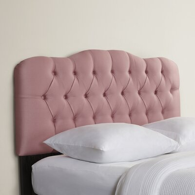 Davina Tufted Shantung Arch Upholstered Headboard Size: Twin, Color: Shantung Woodrose
