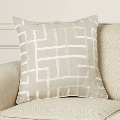 Tai Linen Throw Pillow Size: 18 H x 18 W x 4 D, Color: Slate/Beige