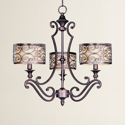 Gidney 3-Light Drum Chandelier