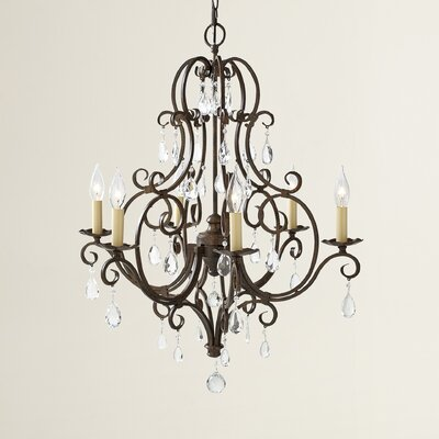 Esse 6-Light Crystal Chandelier