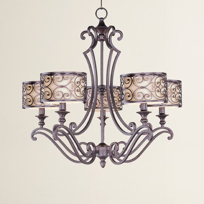 Gidney 5-Light Drum Chandelier