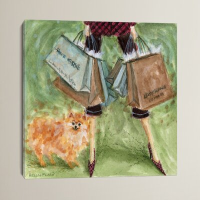 Dog Day Pomeranian Painting Print on Wrapped Canvas Size: 12