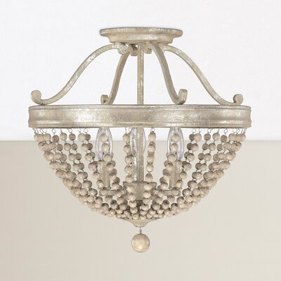 Edgard 3-Light Semi-Flush Mount
