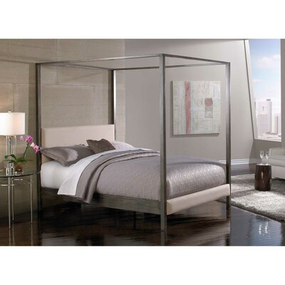 Vurste Upholstered Canopy Bed Size: King