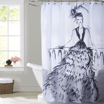 Briana Feathers and Martinis Shower Curtain