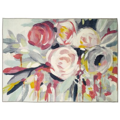Marcourt Rose Bouquet Area Rug