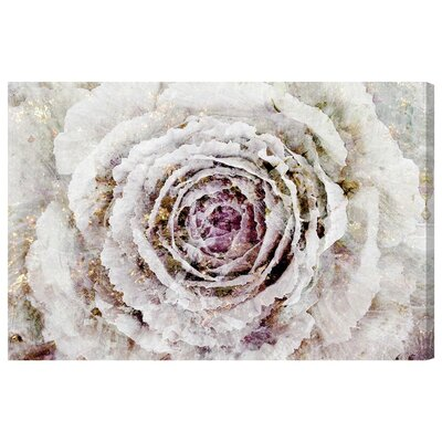 Winter New York Flower Graphic Art on Wrapped Canvas