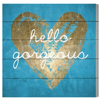 Gorgeous Salute Turquoise Graphic Art Plaque