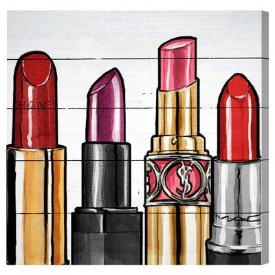 Red Lipstick Graphic Art Plaque Size: 20