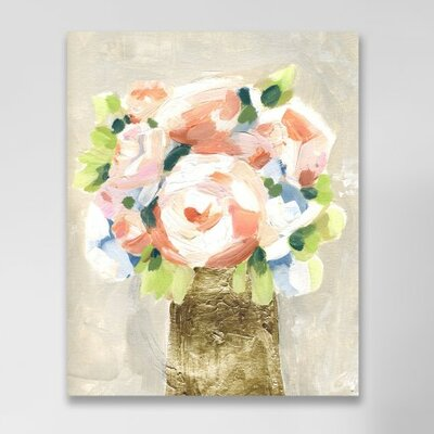 Barcroft Coral Peonies Painting Print on Wrapped Canvas