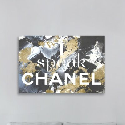 I Speak French Graphic Art on Wrapped Canvas Size: 10