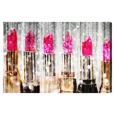 Lipstick Collection Graphic Art on Wrapped Canvas