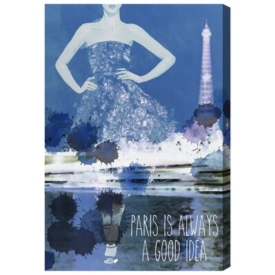 Paris Graphic Art on Wrapped Canvas Size: 15