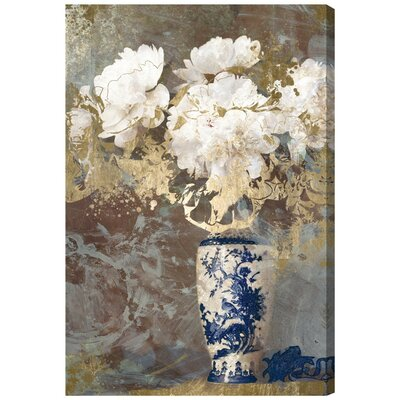 Eastern Floral Painting Print on Wrapped Canvas Size: 15