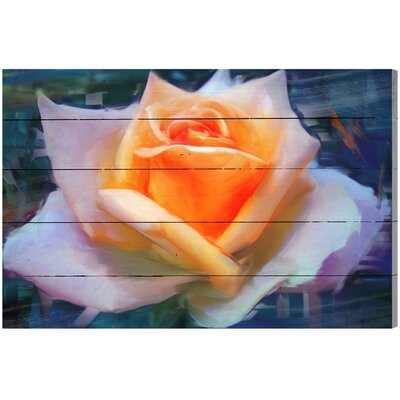 Rose III Graphic Art Plaque Size: 16