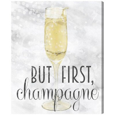 Champagne Always Graphic Art on Canvas Size: 20