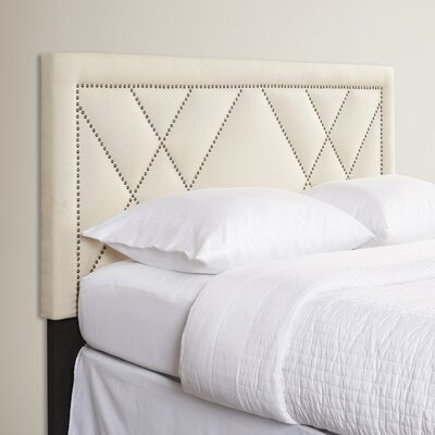 Upholstered Panel Headboard Upholstery: Linen, Size: Full/Queen