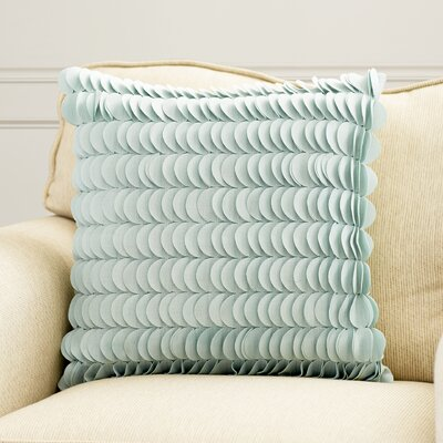 Hyacinthe Textured Circle Throw Pillow Size: 22 H x 22 W, Color: Light Blue, Filler: Down