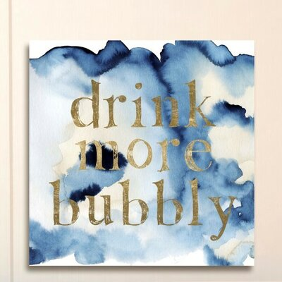 More Bubbly on Blue Waters Graphic Art on Wrapped Canvas Size: 12