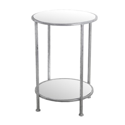 Longlier End Table Finish: Silver Leaf