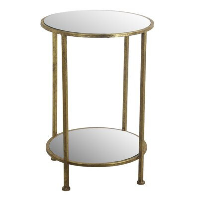 Wyona End Table Color: Gold Leaf