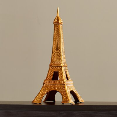 Attractive Aluminum Gold Eiffel Tower Sculpture