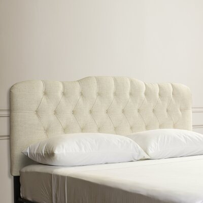 Everdeen Handcrafted Tufted Upholstered Panel Headboard Upholstery: Talc, Size: Queen
