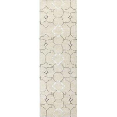 Lompret Hand-Tufted Ivory Area Rug Rug Size: Runner 26 x 8
