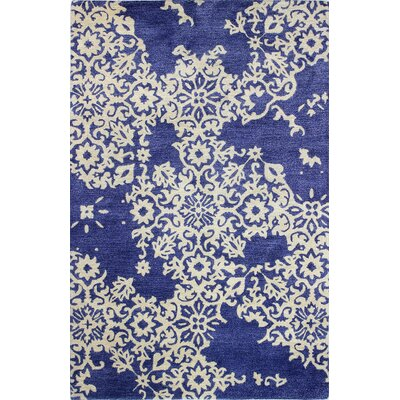 Chaudeville Hand-Tufted Navy Area Rug Rug Size: 86 x 116