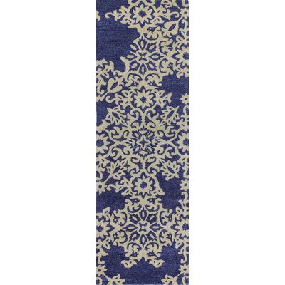 Chaudeville Hand-Tufted Navy Area Rug Rug Size: Runner 26 x 8