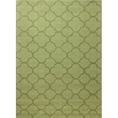 Lierre Hand-Woven Light Green Area Rug Rug Size: 76 x 96