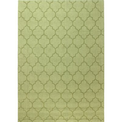 Lierre Hand-Woven Light Green Area Rug Rug Size: Rectangle 76 x 96