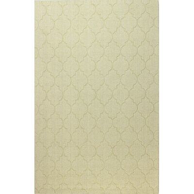Lierre Hand-Woven Ivory Area Rug Rug Size: Rectangle 5 x 76