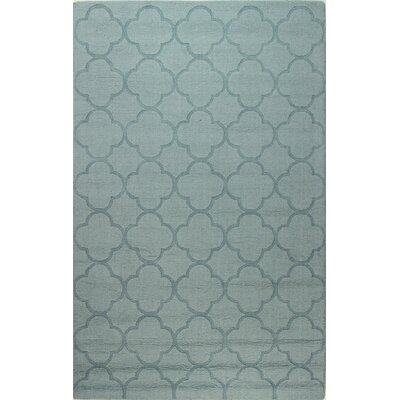 Lierre Hand-Woven Light Blue Area Rug Rug Size: 5 x 76