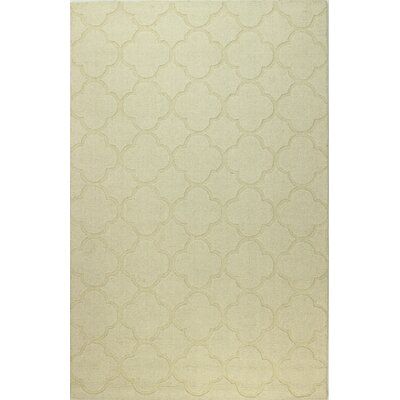 Lierre Hand-Woven Ivory Area Rug Rug Size: 5 x 76