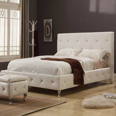 Rafaello Upholstered Platform Bed Size: Queen